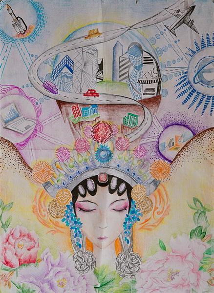 """""""我的梦,中国梦""""初二年级绘画比赛"""