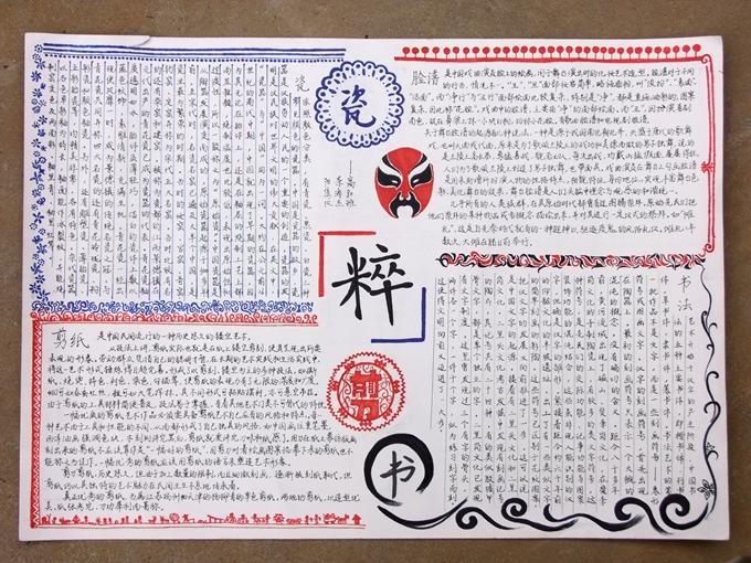 2013年文化艺术节中英文手抄报佳作展