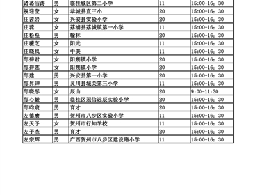 2017初中招生面谈名单公示